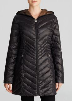 Laundry by Shelli Segal Coat - Chevron Quilted Lightweight Packable
