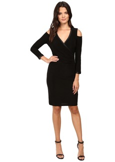 Laundry by Shelli Segal Cold Shoulder Crossover Dress with CURVE CONTROL