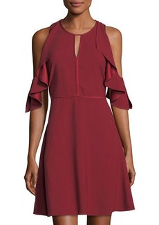 Laundry By Shelli Segal Cold-Shoulder Drape Dress