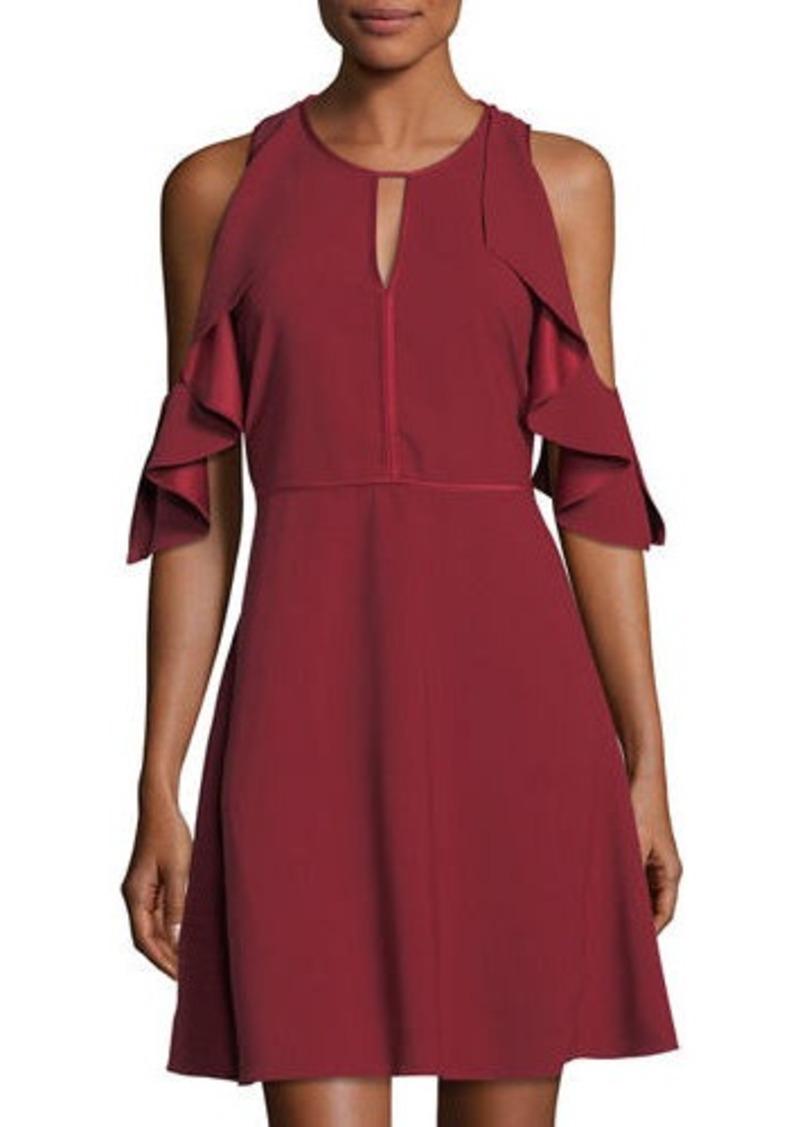 Laundry By Shelli Segal Cold-Shoulder Drape Dress