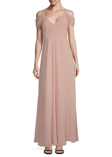 Cold Shoulder Floor-Length Gown