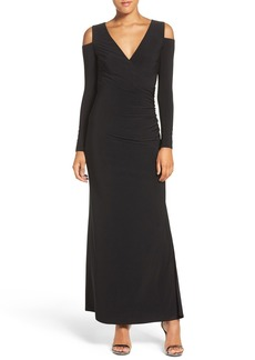 Laundry by Shelli Segal Cold Shoulder Jersey Gown