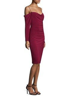 Cold-Shoulder Knee-Length Dress