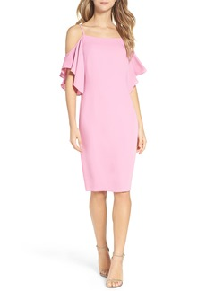 Laundry by Shelli Segal Cold Shoulder Midi Dress