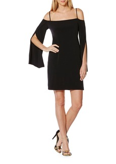 LAUNDRY BY SHELLI SEGAL Cold Shoulder Sheath Cocktail Dress