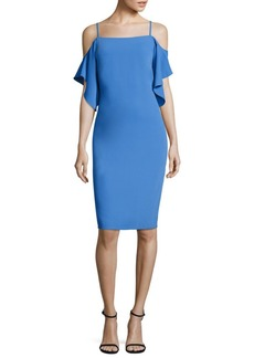 Laundry by Shelli Segal Cold Shoulder Sheath Dress