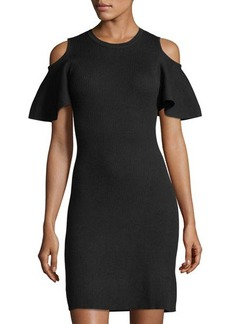 Laundry By Shelli Segal Cold Shoulder Sweater Dress