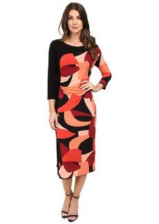 Laundry by Shelli Segal Color Blocked Matte Jersey Sheath Dress w/ Slit
