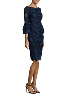 Laundry by Shelli Segal Lace Bell-Sleeve Dress