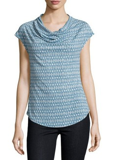 Laundry By Shelli Segal Cowl-Neck Diamond-Print Blouse