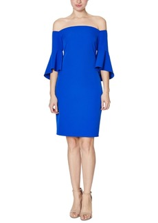 Laundry by Shelli Segal Crepe Bell-Sleeve Dress