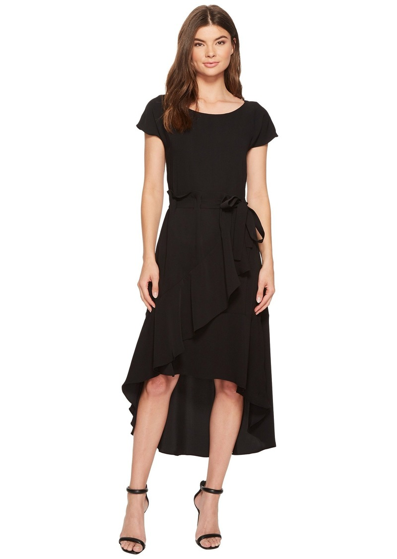 Laundry by Shelli Segal Crepe Dress with Asymmetrical High-Low Hem