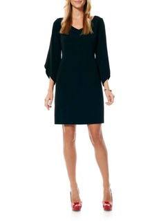 Laundry by Shelli Segal Crepe T-Body Tulip Sleeve Dress