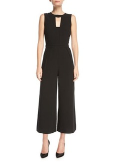 Laundry By Shelli Segal Crepe Wide-Leg Cropped Jumpsuit