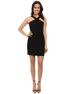 Laundry by Shelli Segal Criss Cross Halter Crepe Dress