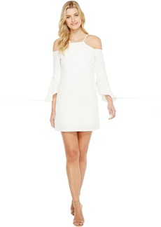 Crisscross Flutter Sleeve Cold Shoulder Cocktail Dress