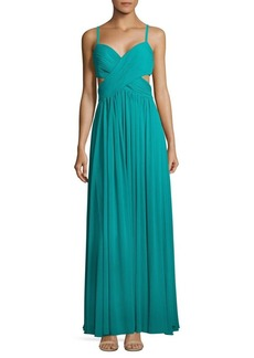 Laundry by Shelli Segal Solid Ruched Gown