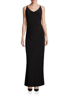 Laundry by Shelli Segal Crossback Gown