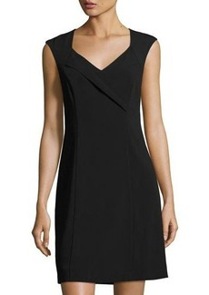 Laundry By Shelli Segal Crossover-Neckline Sheath Dress