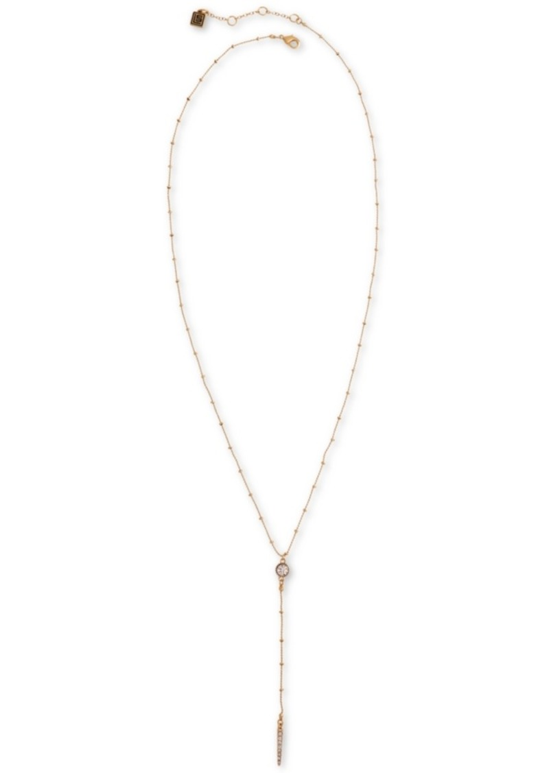 "Laundry by Shelli Segal Crystal Circle & Bar 25"" Lariat Necklace"