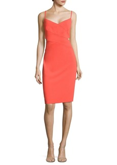 Laundry by Shelli Segal Cutout Crepe Sheath Dress