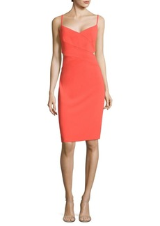 Cutout Crepe Sheath Dress