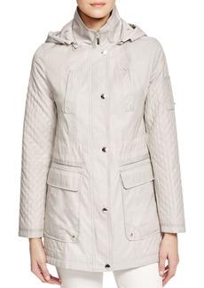 Laundry by Shelli Segal Detachable Hood Waxed Cotton Raincoat