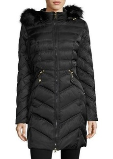 Laundry By Shelli Segal Diamond-Quilted Down Coat