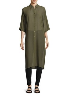 Laundry By Shelli Segal Dolman-Sleeve Button-Up Tunic