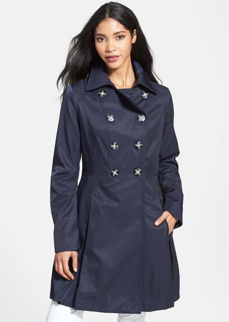 Laundry by Shelli Segal Double Breasted Raincoat