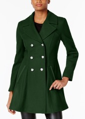 Laundry by Shelli Segal Double-Breasted Skirted Peacoat, Created for Macy's