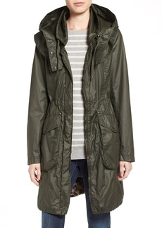 Laundry by Shelli Segal Double Collar Hooded Waxed Cotton Anorak (Regular & Petite)