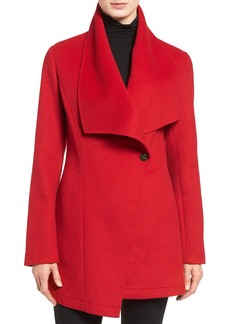 Laundry by Shelli Segal Double Face Drape Collar Coat (Regular & Petite)