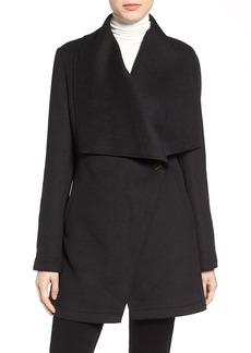 Laundry by Shelli Segal Double Face Drape Collar Coat (Regular & Petite)