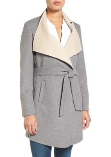 Laundry by Shelli Segal Double Face Wrap Coat (Regular & Petite)