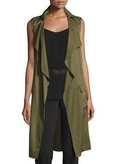 Laundry By Shelli Segal Drape-Front Cargo Trench Vest