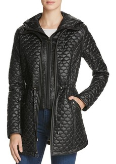 Laundry by Shelli Segal Drawcord Waist Quilted Jacket