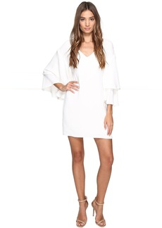 Drop Shoulder Ruffle Bell Sleeve Dress