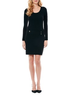 LAUNDRY BY SHELLI SEGAL Drop Waist Sweater Dress