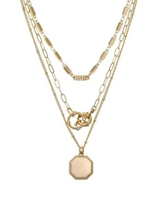 Laundry by Shelli Segal El Presidio Goldtone Multifunctional Layered Pendant Necklace