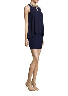 Laundry by Shelli Segal Embellished Chiffon & Jersey Dress