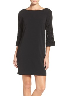 Laundry by Shelli Segal Embellished Chiffon Trapeze Dress