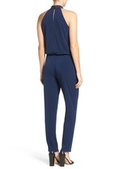 Laundry by Shelli Segal Embellished Halter Jumpsuit