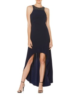 Laundry by Shelli Segal Embellished Hi-Lo Gown