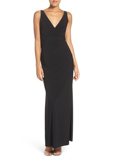 Laundry by Shelli Segal Embellished Jersey Column Gown (Regular & Petite)