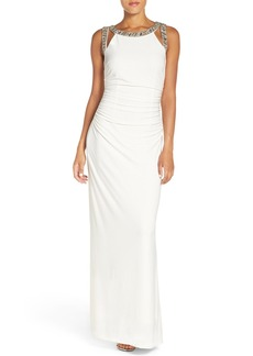 Laundry by Shelli Segal Embellished Jersey Gown