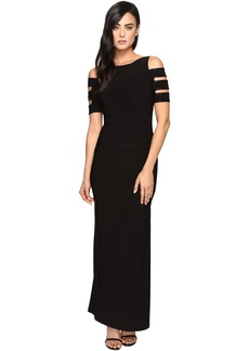 Laundry by Shelli Segal Embellished Long Jersey Gown