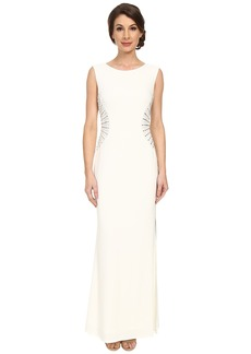 Laundry by Shelli Segal Embellished Side Jersey Gown