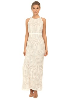 Laundry by Shelli Segal Embellished Sleeveless Open Back Gown