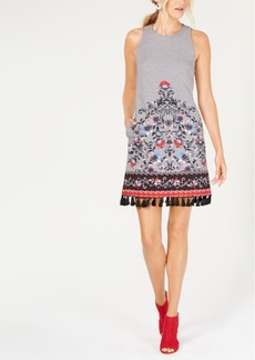 Laundry by Shelli Segal Embroidered A-Line Dress